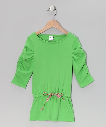 Green Drop-Waist Tunic - Infant, Toddler & Girls