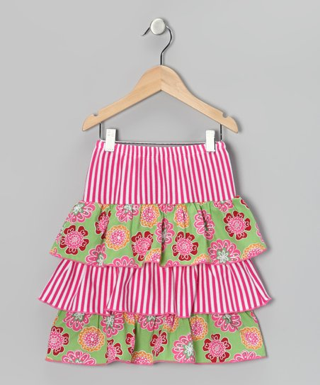 Lime & Floral Ruffle Skirt - Infant, Toddler & Girls