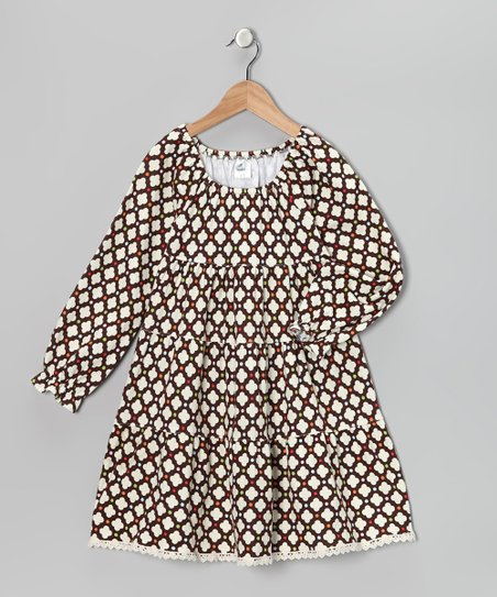 Brown Tiered Dress - Infant, Toddler &amp; Girls