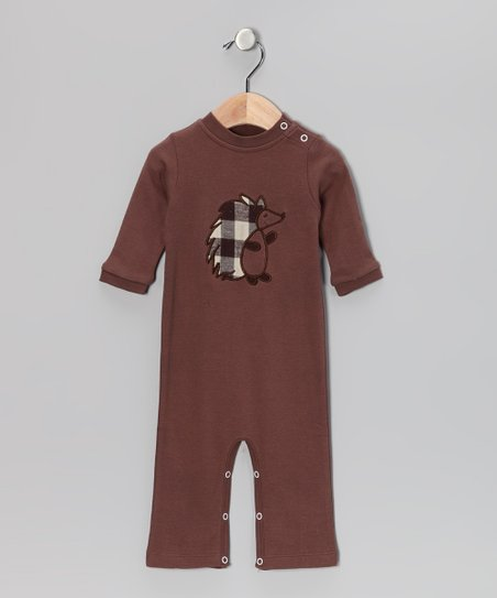 Brown Hedgehog Playsuit - Infant