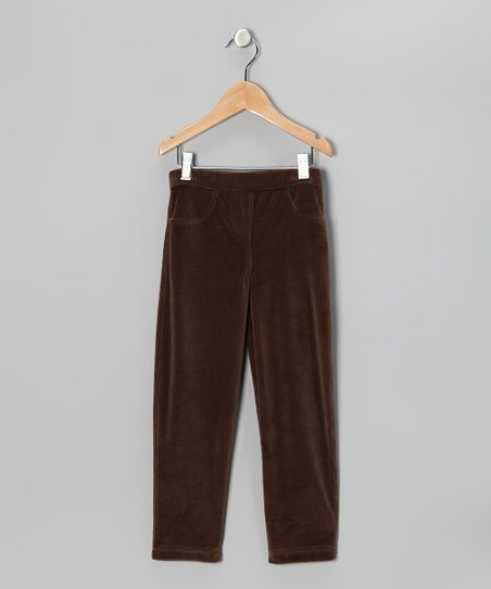 Brown Velour Pants - Infant, Toddler & Girls