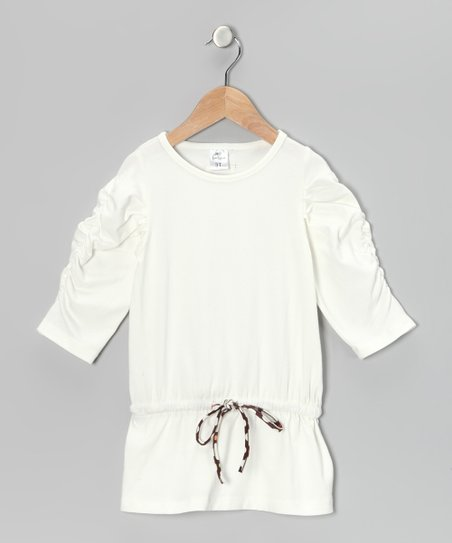 Cream Drop-Waist Tunic - Infant, Toddler &amp; Girls