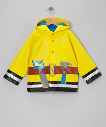 Yellow Fix It Fleece-Lined Raincoat - Toddler & Kids