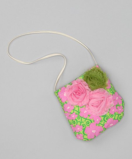 Pink &amp; Green Lily Petit Purse