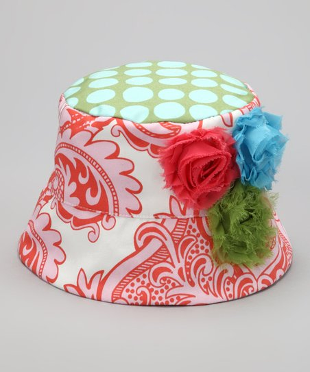 Green & Coral Michelle Bucket Hat