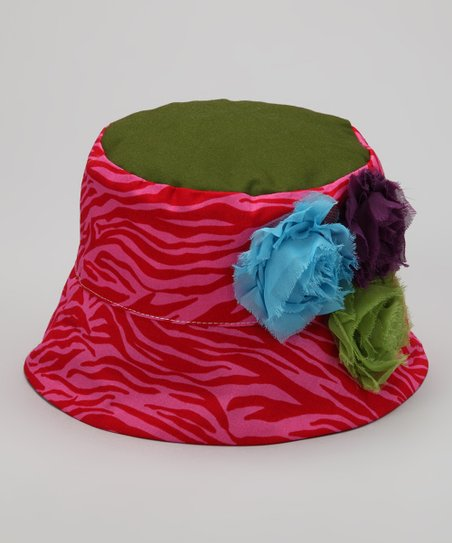 Pink &amp; Olive Amelia Bucket Hat