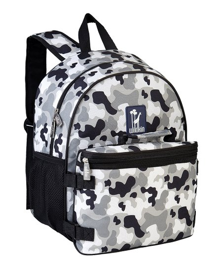 Gray Camo BOGO Backpack & Lunch Bag