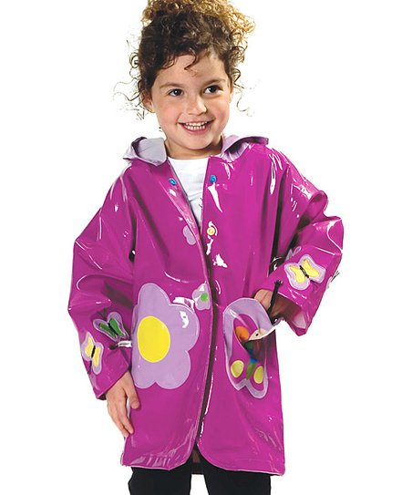 Purple Butterfly Raincoat - Infant, Toddler &amp; Kids