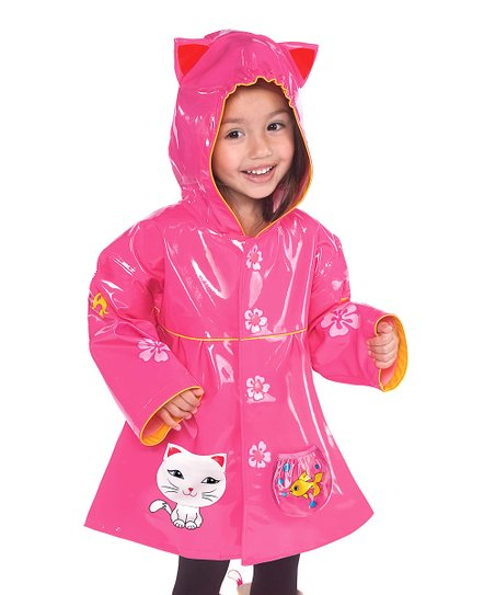 Pink Kitty Raincoat - Infant, Toddler & Kids