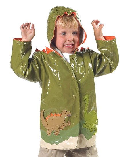 Jade Dinosaur Raincoat - Infant, Toddler & Kids
