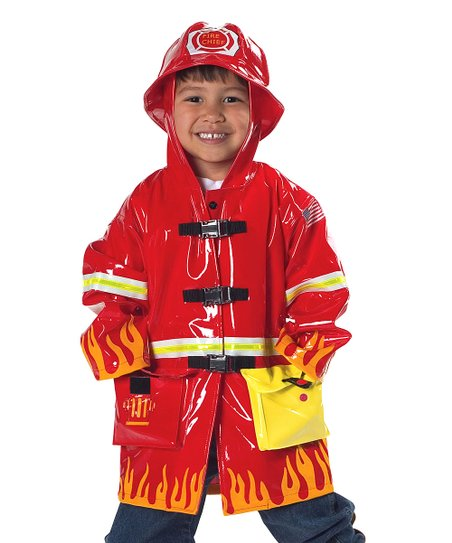 Red Firefighter Raincoat - Infant, Toddler & Kids