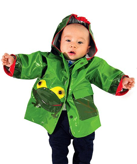 Green Frog Raincoat - Infant, Toddler & Kids