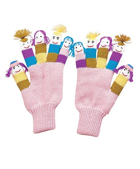Pink Girlfriends Gloves