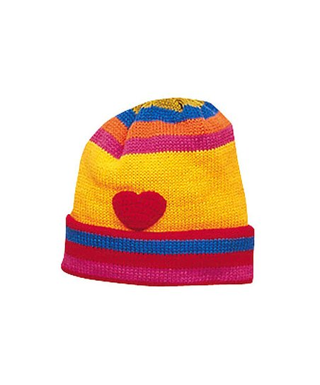 Yellow Heart Beanie
