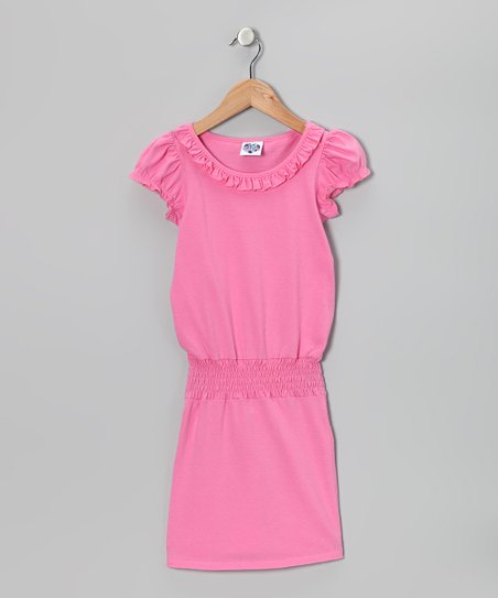 Pink Carnation Ruffle Smocked Dress - Toddler & Girls
