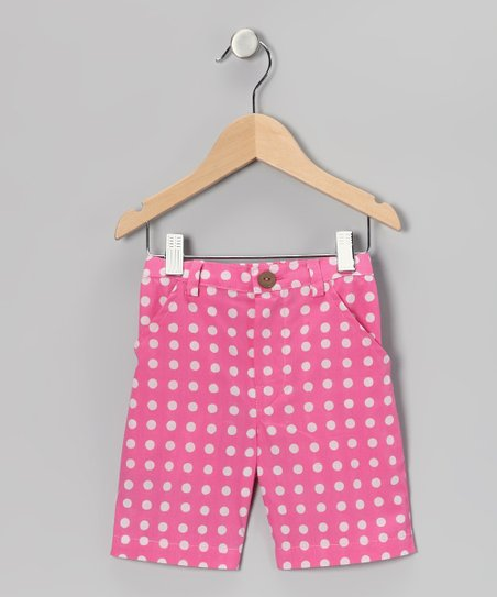 Pink Polka Dot Bermuda Shorts - Toddler &amp; Girls