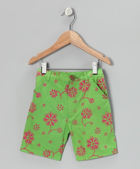 Fresh Fruit Floral Bermuda Shorts - Toddler & Girls