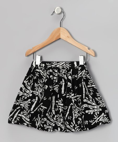Black &amp; White Bamboo Bubble Skirt - Toddler &amp; Girls