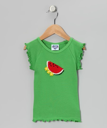 Fresh Fruit Watermelon Lettuce-Edge Tee - Toddler & Girls