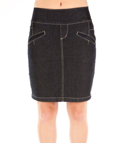Beija-Flor Dark Blue Denim Betsy Contour Skirt