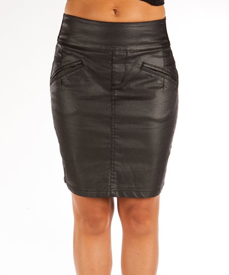 Beija-Flor Black Betsy Denim Contour Skirt