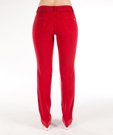 Beija-Flor Red Jarrett Contour Straight-Leg Jeans