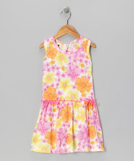 Pink Country Flowers Farmer's Daughter Dress - Toddler & Girls