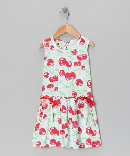 Light Blue Bingo Cherry Farmers Daughter Dress - Toddler &amp; Girls