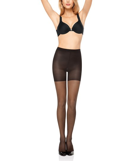 All the Way Super Control Pantyhose - Black