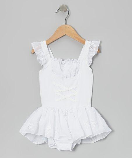 White Juliet Skirted Leotard – Infant