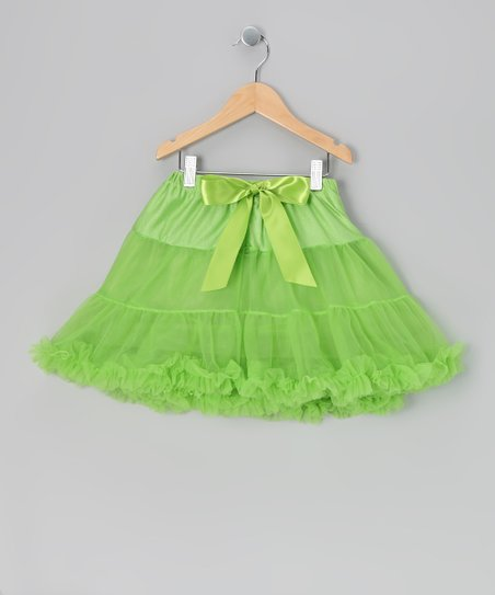 Lime Green Mini Pettiskirt - Infant, Toddler & Girls