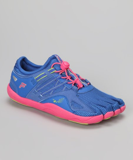 Dazzling Blue & Hot Pink Skele-Toes Bay Runner Shoe - Kids