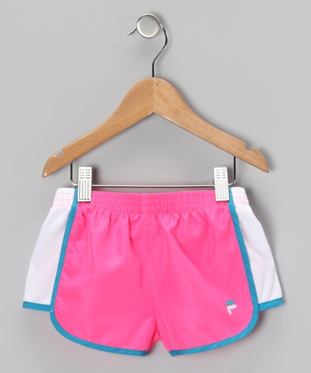 Knockout Pink Primo Shorts - Girls