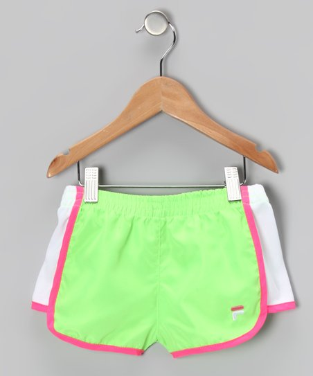 Green Gecko Primo Shorts - Girls