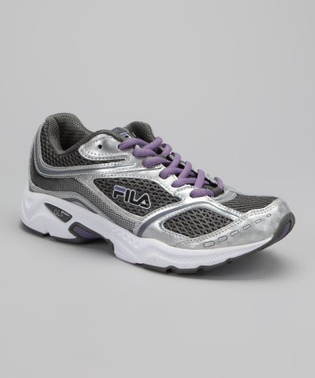 Pewter & Purple Simulite Running Shoe