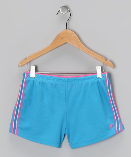 Atomic Blue Mesh Shorts - Girls
