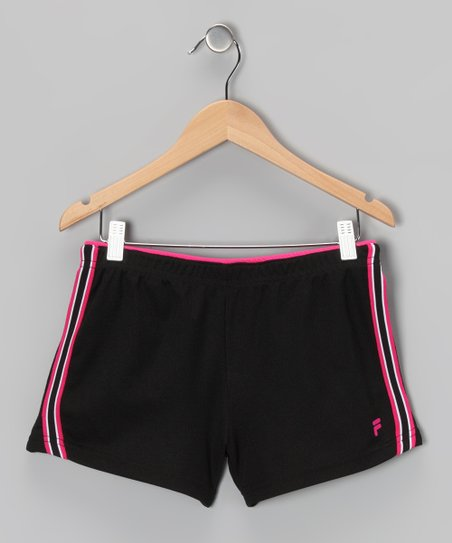 Rich Black Mesh Shorts - Girls