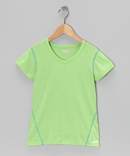 Heather Green Gecko Tee - Girls