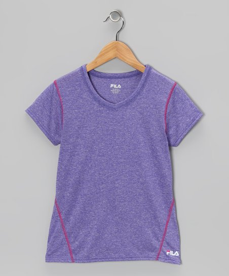 Heather Simply Purple Tee - Girls