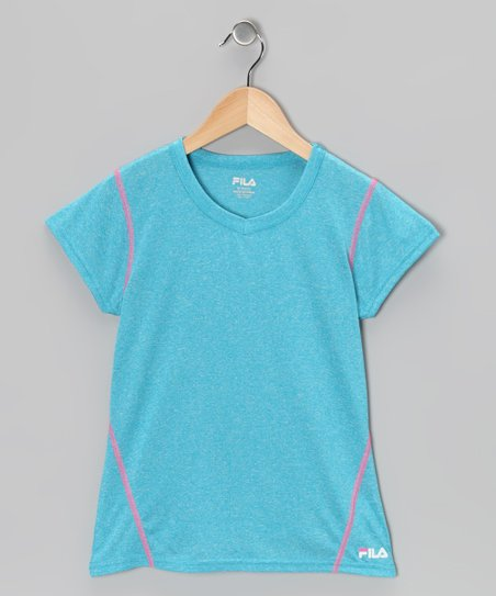 Atomic Blue Heather Tee