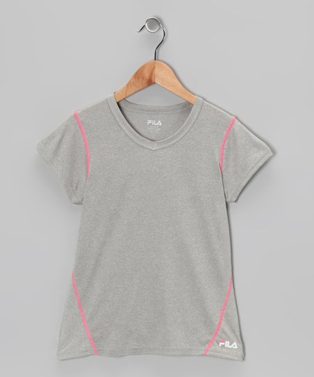 Heather Gray Tee - Girls