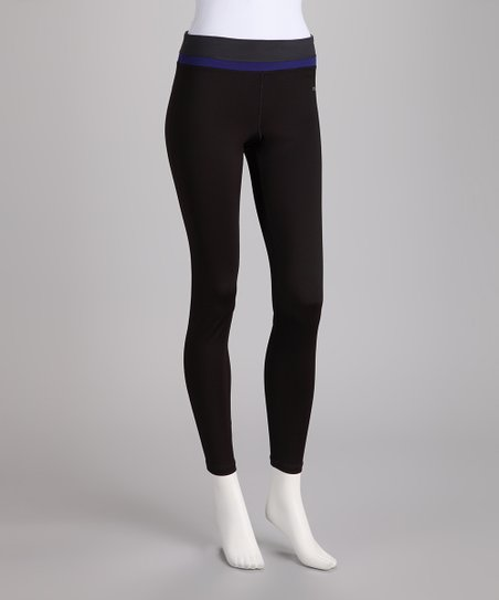 Black & Dark Blue Yoga Pants