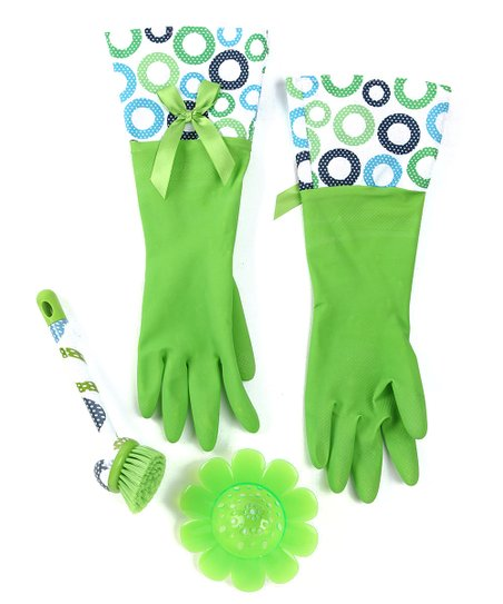 Lime Double Dot Cleaning Set