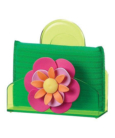 Pink Flower Caddy & Sponge