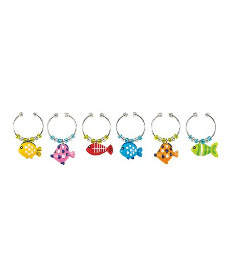 Something's Fishy Wine Charm Set