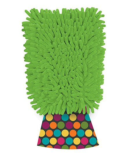 Green Dusting Diva Candy Microfiber Mitt