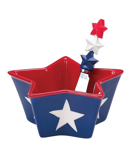 Flags Flying Star Dip Bowl & Spreader