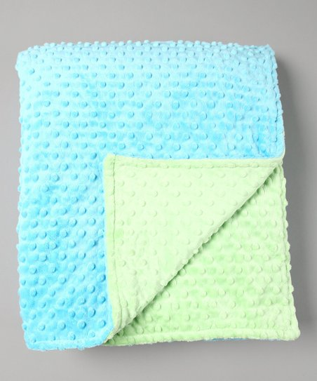 Turquoise &amp; Lime Minky Toddler Blanket
