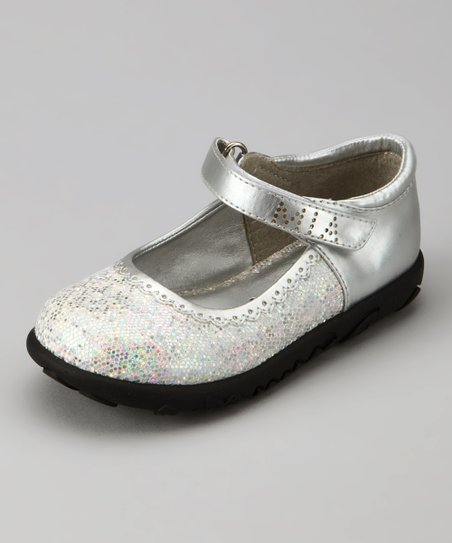 Silver Disco Glitter Mary Jane