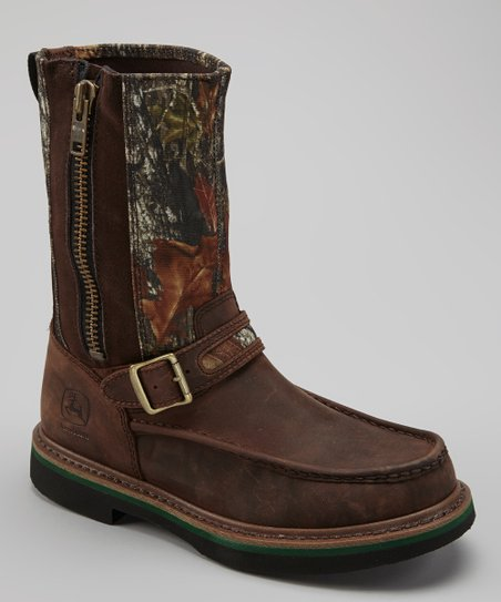 Brown Camo Mossy Oak Gaucho Boot - Men
